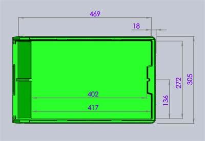 Размеры ящика V-4